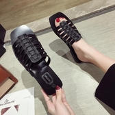 原宿風拖鞋女2019夏季新款一字平底涼拖學生韓版外穿百搭沙灘鞋潮居享優品