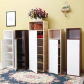門口鞋櫃簡易簡約現代門廳櫃鞋架 多層實木經濟型省空間組裝 禮物限時八九折