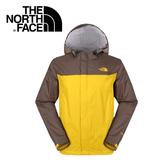 【The North Face 男 HyVent 2.5L防水外套 鳶尾黃/灰咖啡 】 NF00CGL3/防水外套/防水