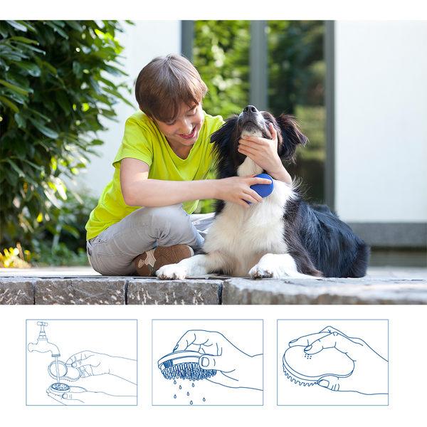 德國潔靈康【Zielonka】寵物除味刷(藍色)