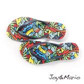 【Joy&Mario】2016新款春夏歐美塗鴉風童鞋夾腳拖 - T1018C NAVY