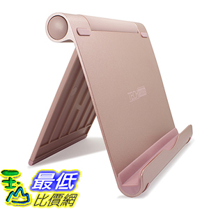 [美國直購] TechMatte B01EG0DZOW 玫瑰金 鋁合金 立架 (XL-size Rose Gold) Multi-Angle Aluminum iPad Pro 12.9 9.7
