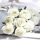 仿真玫瑰 絨布玫瑰 婚紗攝影 拍照 背景...