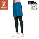 【Wildland 荒野 男 彈性透氣抗UV運動短褲《土耳其藍》】0A81382/防曬褲/運動褲/休閒褲/跑步