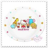 ♥小花花日本精品♥ Hello Kitty 美耐皿 盤子 點心盤 水果盤 大象 獅子 小熊 小兔 綿羊 11009702