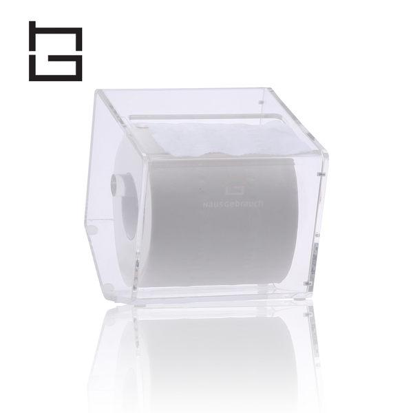 【HG】創意壓克力五角捲筒紙巾盒(透明) (現貨+預購)