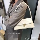 腋下包韓版側背高級感腋下包女2020新款復古中古風包包時尚洋氣 coco衣巷