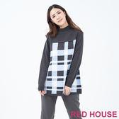 RED HOUSE-蕾赫斯-寬版格紋針織衫(共2色)