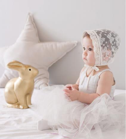 簍空蕾絲網紗盆帽.圓帽  防曬帽  橘魔法 Baby magic 兒童 嬰兒 小童 花童 公主 周歲拍照