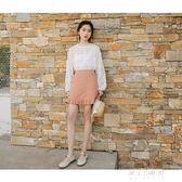 歐貨雪紡衫洋氣成熟氣質學生蕾絲冷繫女裝小眾設計感很仙的上衣秋   東川崎町