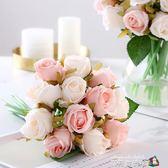 韓式玫瑰手捧花新娘婚紗攝影拍攝道具裝飾花 仿真裝飾假花魔方數碼館