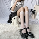 絲襪 透明小腿襪白色襪子女jk夏天薄款中筒夏季長筒ins潮半筒絲襪日系 夢藝