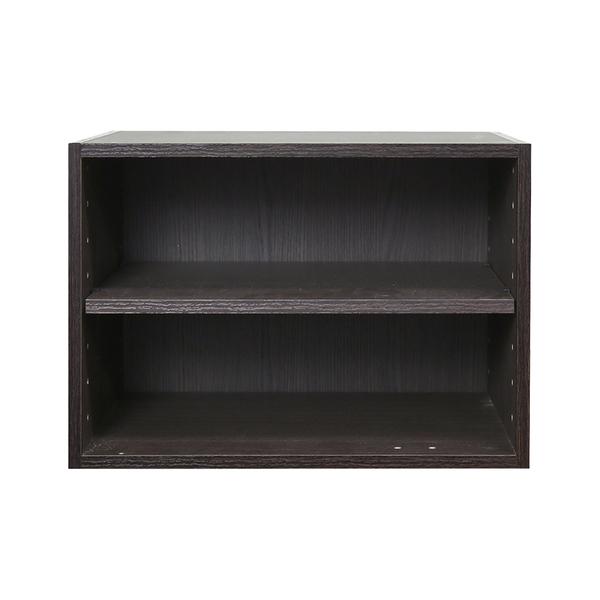樂嫚妮 二層收納空層櫃-層板可抽-深胡桃木色 [超取免運]