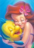 【拼圖總動員 PUZZLE STORY】小美人魚與好朋友 日本進口拼圖/Tenyo/迪士尼/266P/透明塑膠