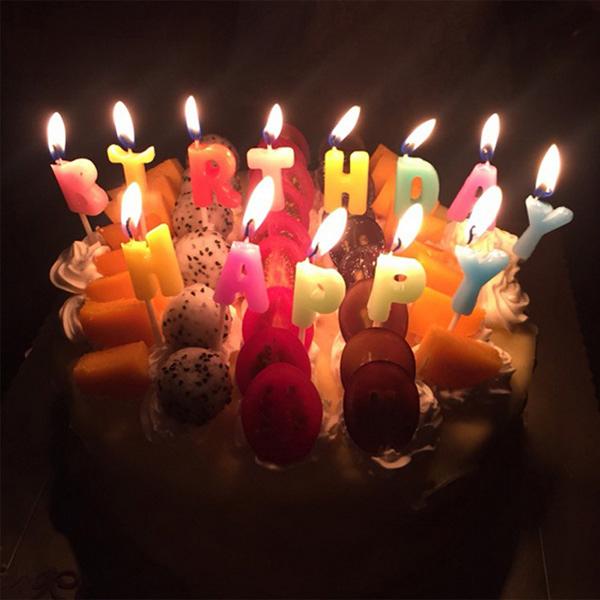 【BlueCat】Happy Birthday彩色字母生日蠟燭