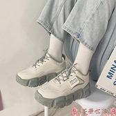 老爹鞋ulzzang運動鞋女2021春季新款百搭ins潮厚底小白鞋顯腳小老爹鞋秋 芊墨 上新
