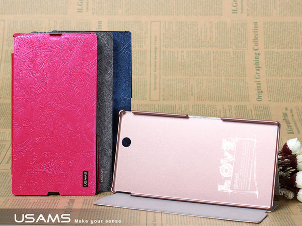 【愛瘋潮】U-Clothes SONY Xperia Z Ulrta 6.44吋 專用 左翻皮套 - 花漾系列 保護殼 保護套