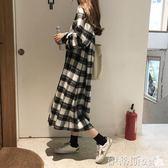 棉麻長袖秋季新款韓版女裝簡約寬鬆百搭翻領單排扣磨毛長款長袖襯衫女 伊蒂斯女裝