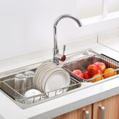 廚房可伸縮水槽瀝水架晾放碗架家用水槽置物架洗碗池瀝水架瀝水籃 igo