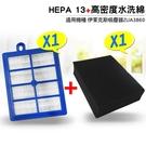 適用伊萊克斯HEPA13級過濾網+ZUA3860高密度海綿