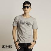 【BTIS】雄鷹背圖 圓領T-shirt  / 麻灰色