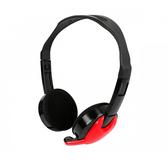 【KINYO】紅異戰士-重低音立體聲皮質耳機麥克風EM3652