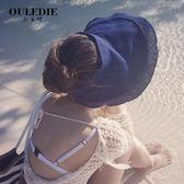 夏天遮陽帽子女可折疊防紫外線防曬太陽草帽
