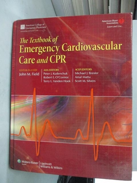 【書寶二手書T3/大學理工醫_ZIIG】The Textbook of Emergency Cardiovascular