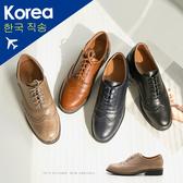 牛津.防潑水雕花牛津鞋(卡其、棕)-FM時尚美鞋-韓國精選.Autumn