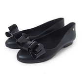 Petite Jolie 可愛麻花捲果凍娃娃鞋-黑色