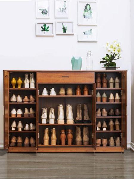 鞋櫃木馬人鞋櫃子多層簡易家用經濟型門廳鞋柜收納組裝實木制簡約現代 維多