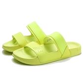 NEW BALANCE 涼鞋 拖鞋 螢光黃 兩槓 膠底 運動拖 女 (布魯克林) SWF202LW