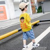 童裝男童夏裝套裝2019新款兒童夏季短袖衣服寶寶帥氣洋氣5韓版6潮-Ifashion