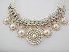 項鍊 珍珠編織繩圓形排珠頸鍊 i917ღ...