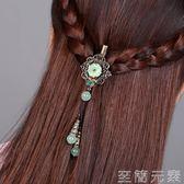 花朵髮夾頭飾復古小飾品髮飾頂夾民族風配飾劉海邊夾頭髮夾子新品 晴天時尚館