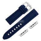 Apple Watch / 38.40.42.44mm / 蘋果手錶替用錶帶 蘋果錶帶 加厚 運動型 矽膠錶帶 藏藍色 #804-13-DB