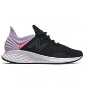 New Balance 女鞋 慢跑 透氣 網布 輕量 緩震 Fresh Foam 黑 紫【運動世界】WROAVLV