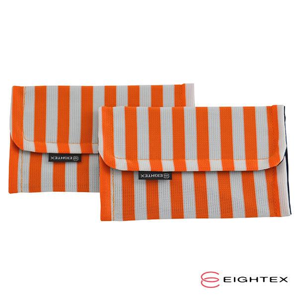 Eightex 桑克瑪為好 防污口水巾-橘色2入