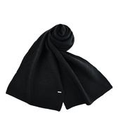 美國正品 COACH 針織感浮雕LOGO羊毛圍巾-黑色【現貨】