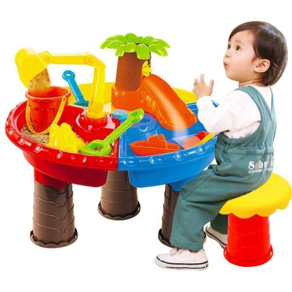 兒童節戲水沙灘桌寶寶玩水玩沙玩具套裝戶外大號沙漏【快速出貨】