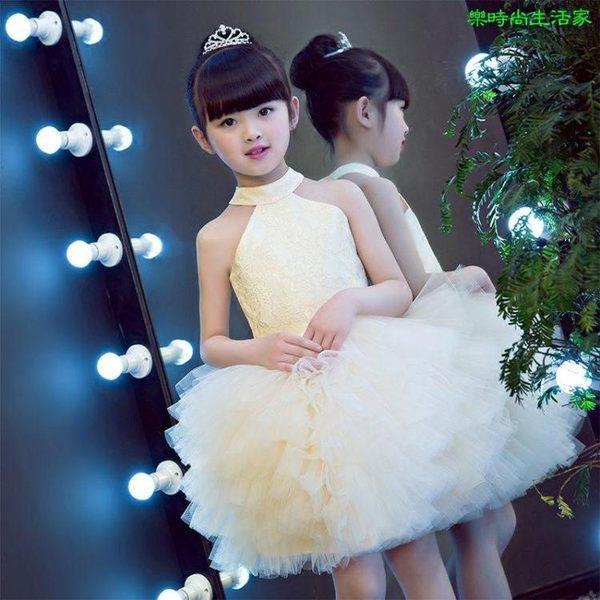 2017兒童禮服 生日舞會 鋼琴演出表演蓬蓬裙禮服LC007