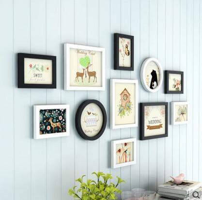 創意組合相框掛牆客廳臥室相片牆畫框牆