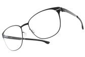 Ic! Berlin光學眼鏡 LUDMILA L. BLACK (霧黑) 德國薄鋼質感簡約款 # 金橘眼鏡