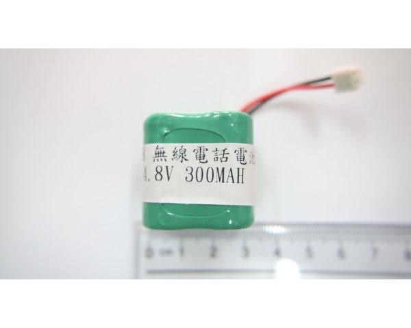 全館免運費【電池天地】P18 無線電話電池4.8V 300mah 正方形  (尺寸:2/3AA*4)