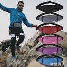 運動手機腰包男士多功能包帆布耐磨大容量斜挎胸包女士休閒跑步包 LJ5242【極致男人】