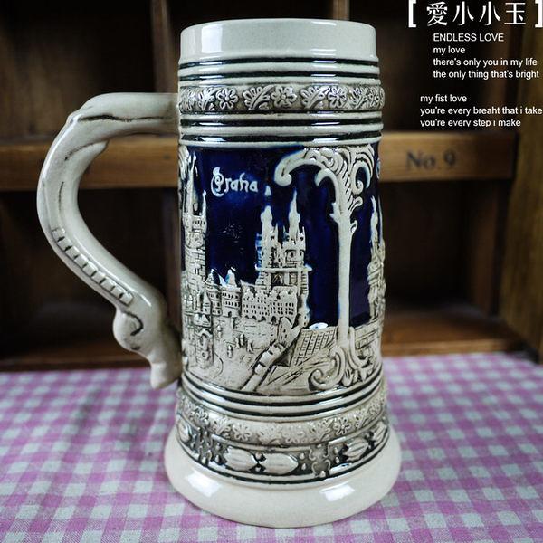 【德國啤酒杯布拉格307192】時尚陶瓷馬克杯