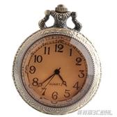 百搭韓國石英錶玻璃復古茶色翻蓋懷錶宮廷大號電子錶學生女簡約  英賽爾