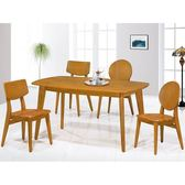 餐桌 PK-760-2 北歐橡木4尺餐桌 (不含椅子)【大眾家居舘】