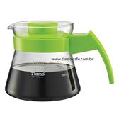 金時代書香咖啡 Tiamo 玻璃咖啡壺450cc 弧型把手 通過SGS檢測 HG2210G