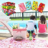 Qmishop 可愛防水手提式折疊超大號野餐墊 沙灘墊 【QJ1487】